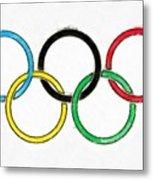 Olympic Rings Pencil Metal Print