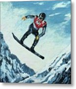 Olympic Snowboarder Metal Print