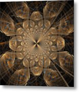 Om Particles Metal Print