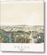 Omaha, Nebraska Looking North From Forest Hill 1867 Metal Print