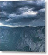 Ominous Clouds Over Glacier Point Metal Print