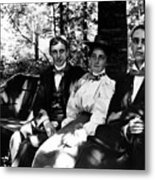 On A Bench In Palmer Park, Detroit, Sept. 6,1897 Metal Print