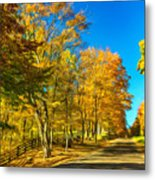 On A Country Road 4 - Paint Metal Print