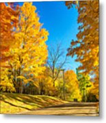 On A Country Road 6 - Paint Metal Print