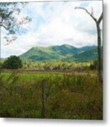 On A Hill Far Away Metal Print