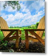 On A Pretty Summer Day Oil Painting Metal Print