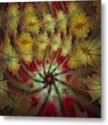On A Windy Autumn Day Metal Print