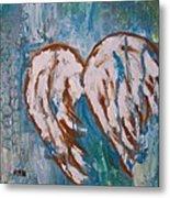 On Angel Wings Metal Print