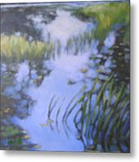 On Calm Reflection Metal Print
