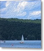 On Cayuga Lake Metal Print