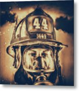 On Duty And Into Fire_dramatic Metal Print