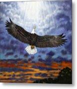 On Eagles Wings Metal Print