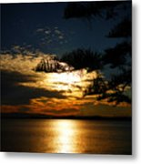 Golden Moments Metal Print