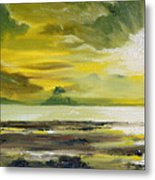 On Golden Shores Metal Print