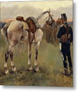 On Patrol In The Country Metal Print