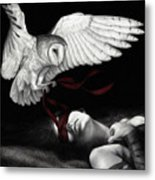 On Silent Wings Metal Print by Pat Erickson