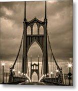 On St Johns Bridge Metal Print