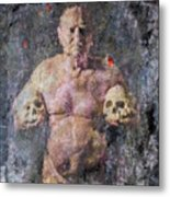 On The Altar Of Skull Carson #3. A Self-portrait, 2016 Metal Print