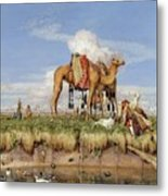 On The Banks Of The Nile Metal Print