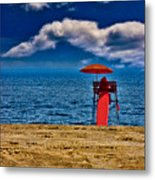 On The Beach At Coney Island Metal Print