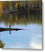 On The Bend Of The River Metal Print