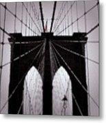 On The Bridge Metal Print