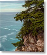 On The Cliff - Vertical Metal Print