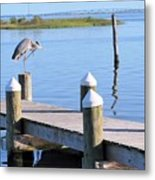 On The Dock Of The Bay Metal Print