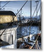 On The Docks In Provincetown Metal Print