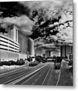On The Expressway Metal Print