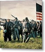 On The Field Of Battle Metal Print