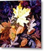 On The Forest Floor Vivid Colors Metal Print