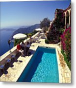On The French Riviera Metal Print