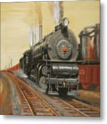 On The Great Steel Road Metal Print