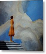 On The Highest Step Metal Print