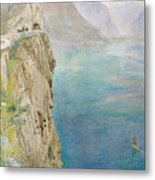 On The Italian Coast Metal Print