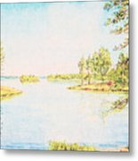 On The Lake In A Sunny Day Metal Print