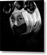 On The Lips Of Poise Metal Print