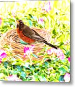On The Nest Metal Print