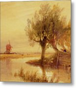 On The Norfolk Broads Metal Print