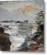 On The Pacific Shore Metal Print