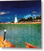 On The Pier At Port Metal Print
