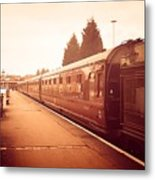 On The Platform Metal Print