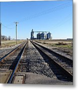 On The Right Tracks Metal Print