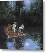 On The River Metal Print by Harold Shull