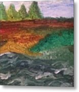 On The River's Edge Metal Print