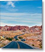 On The Road - Valley Of Fire Metal Print