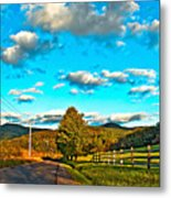 On The Road In Wv Metal Print