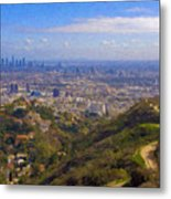 On The Road To Oz La Skyline Runyon Canyon Hiking Trail Metal Print