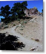 On The Road To Virginia City Nevada 16 Metal Print